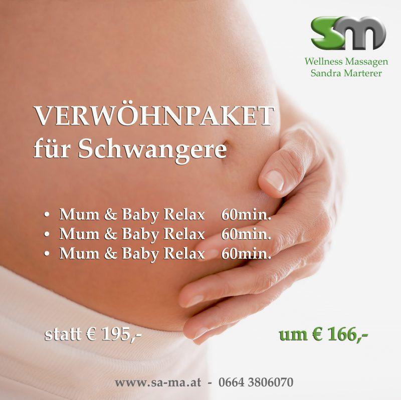 Massage Gutschein für Schwangere